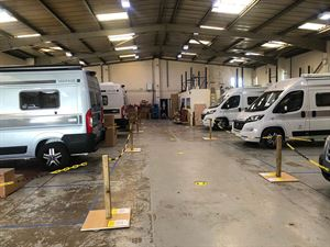 The Vantage Motorhomes factory post-lockdown