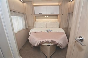 The island bed in the AutoTrail F Line 74 motorhome