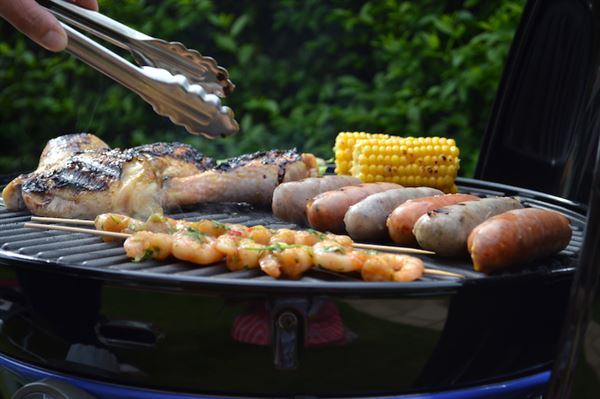 Barbecueing on a Cadac (photo by Iain Duff)