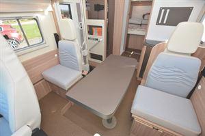 Travel seats in the Bürstner Delfin T 736 motorhome
