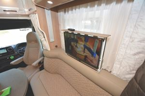 The large flatscreen TV