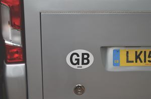 A GB sticker for your motorhome