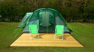 Leave the camping equipment at home and arrive to a ready-pitched tent
