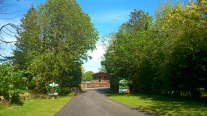 The entrance leading to the caravan park