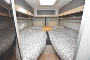 Twin beds in the Globecar Campscout Elegance