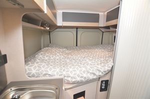 The bed in the Globecar Roadscout Elegance