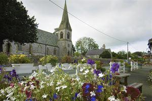 The churchin the village of Gorsedd