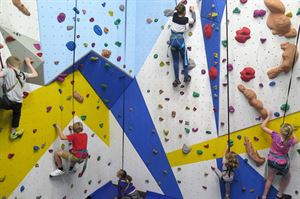 Test your skills on the climbing wall