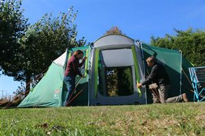 Pitching a Coleman tent