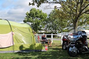 Warners shows camping
