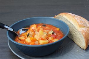 Minestrone with crusty bread (Photo by Iain Duff)