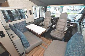 The interior of the Niesmann + Bischoff iSmove motorhome