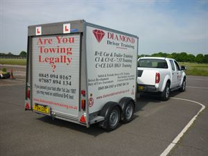 The trailer you'll be towing on training and test