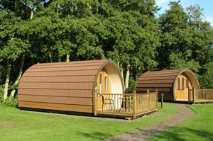 The camping pods at Run Cottage