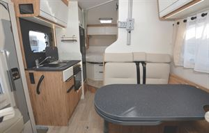 A look through the interior of the Pilote P650C Evidence motorhome