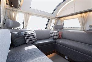 The Adria Alpina Mississippi caravan lounge