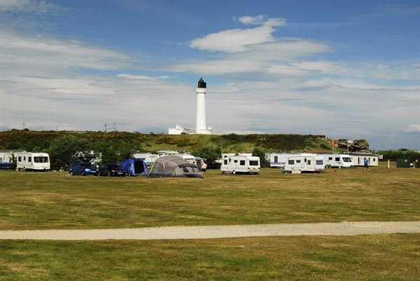 Stunning park overlooked by Covesea Lighthouse