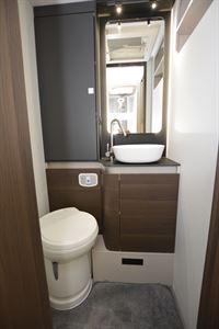 The washroom in the Adria Matrix Supreme 670 SL motorhome