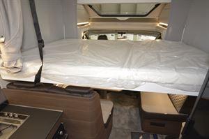 The pull-down bed in the Adria Matrix Supreme 670 SL motorhome