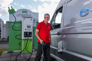 Frank Eusterholz with the all-electric e-Crafter campervan