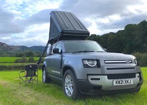 Land Rover Defender and tent