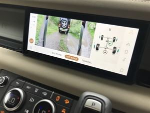 Land Rover Defender infotainment screen