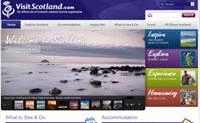 The Visit Scotland website