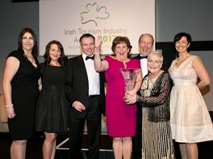 Representatives for Westport House collect their award