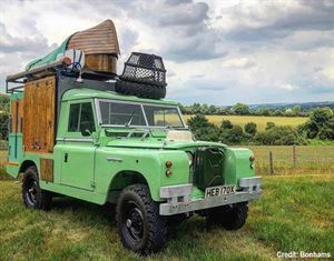 Whittingstall's Land Rover campervan called the Gastrowagon