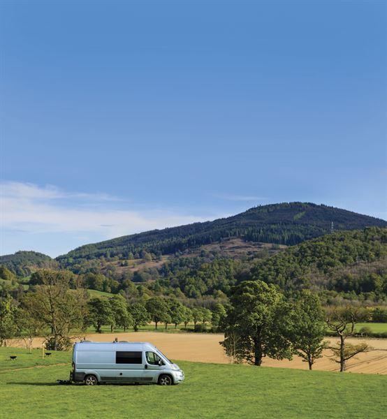 The custom-converted Fiat Ducato campervan