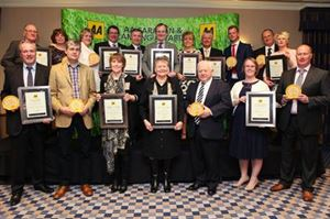 All the winners of the AA awards together