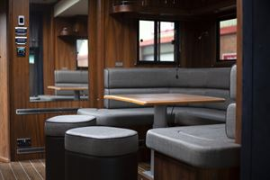 The stylish interior of the Nomad motorhome