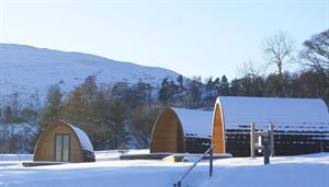 Glamping in winter