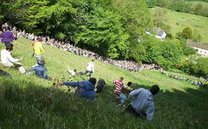 Cheese Rolling in Gloucestershire - courtesy of Wikimedia