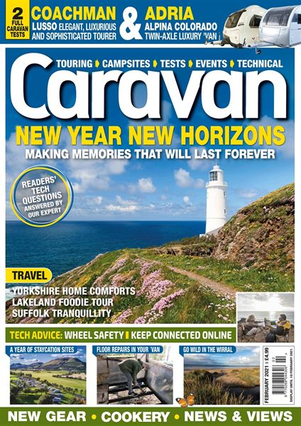 Download the February 2021 issue of Caravan magazine