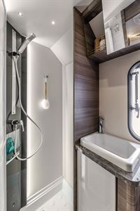 The shower in the Evo Sound motorhome