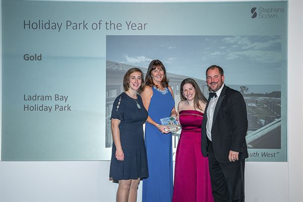 Ladram Bay collecting their award