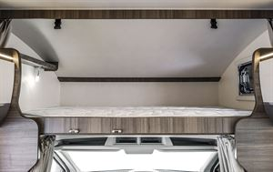 The overcab bed in the Rimor Evo Sound motorhome