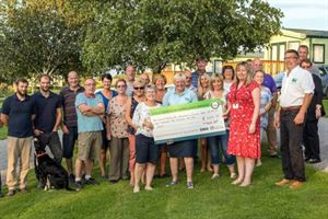 Holiday park raises thousands for air ambulance charity