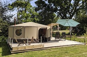This luxury yurt is one of the many glamping options at Back of Beyond