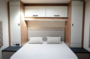 The comfortable bedroom