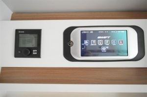 The touchscreen control panel