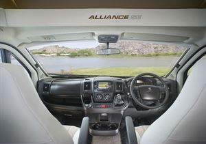 The cab of the Bailey Alliance SE 76-4T motorhome