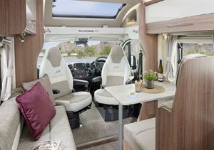 The lounge in the Bailey Alliance SE 76-4T motorhome