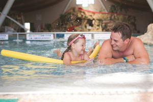 The indoor pool is perfect for families
