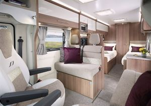 The interior of the Bailey Alliance SE 76-4T motorhome