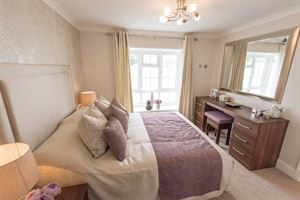The master bedroom in the new Prestige Homeseeker Anthem park home