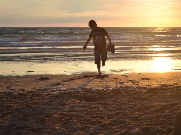 Sunset at Woolacombe Beach in Devon