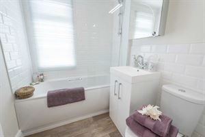 The bathroom in the new Prestige Homeseeker Anthem park home