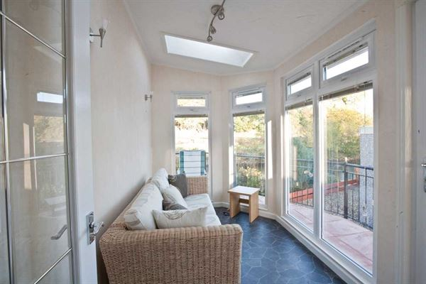 The sunroom in the latest Stately-Albion Carmarthen park home